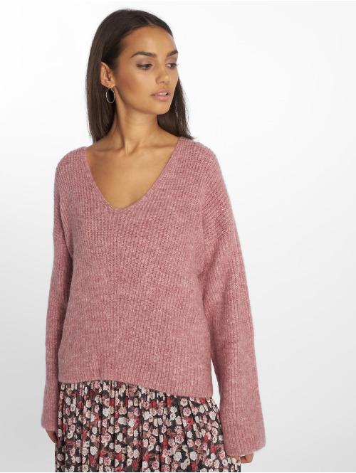 NA-KD Pullover V Front pink