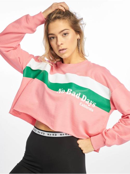 NA-KD Pullover Retro pink