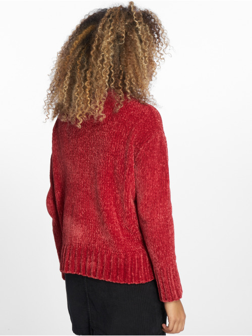 NA-KD Pullover Chenille rot