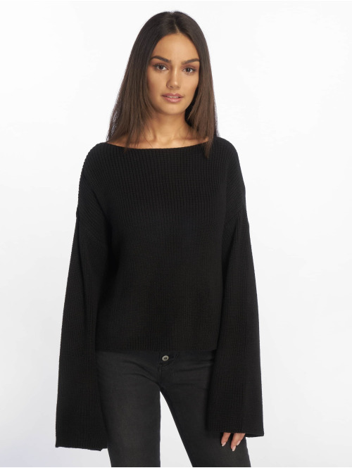 NA-KD Pullover Knitted Long Sleeve schwarz