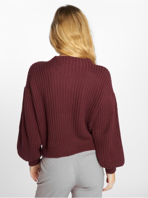NA-KD Pullover Balloon Sleeve Knitted violet