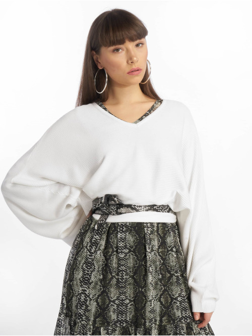NA-KD Pullover Batwing Short weiß