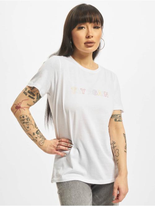 NA-KD T-Shirt Try Again weiß