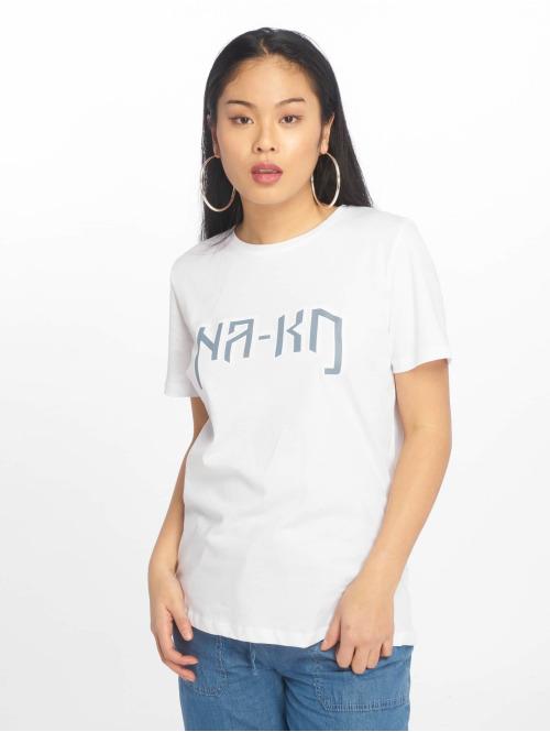 NA-KD T-Shirt Logo weiß