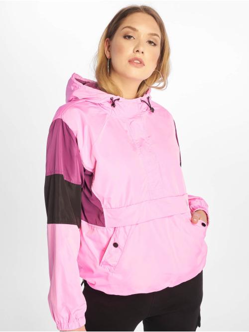 NA-KD Übergangsjacke Hood Anorak pink