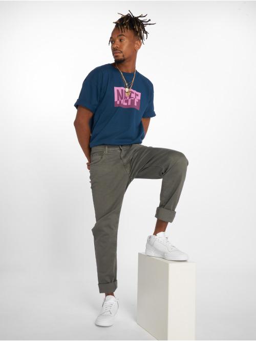 NEFF T-Shirt New World blau