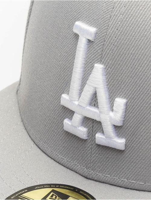New Era Fitted Cap MLB Basic LA Dodgers 59Fifty grau