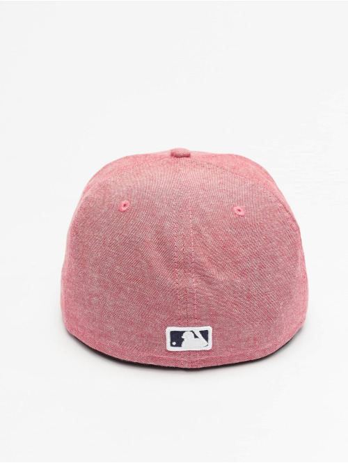 New Era Fitted Cap Chamsuede LA Dodgers rot