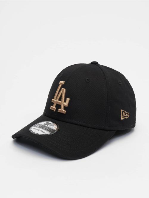 New Era Flexfitted Cap MLB Los Angeles Dodgers League Essential 39thirty schwarz