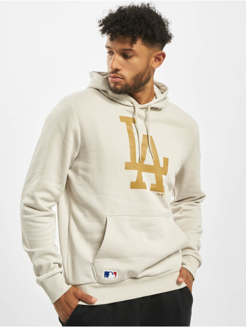 New Era Hoody MLB LA Dodgers Seasonal Team Logo beige