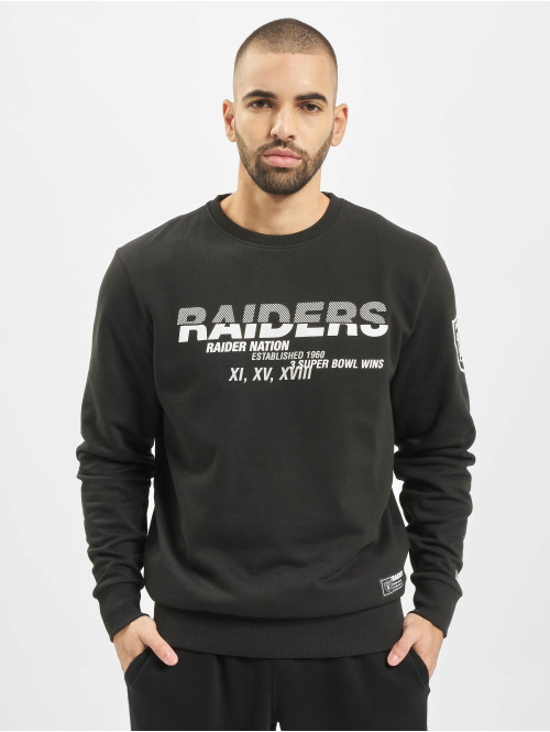 New Era Pullover NFL Oakland Raiders Wordmark Slogan Crew schwarz