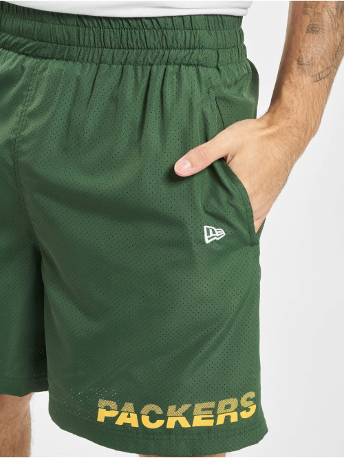 New Era Shorts NFL Green Bay Packers Team Logo And Wordmark grün