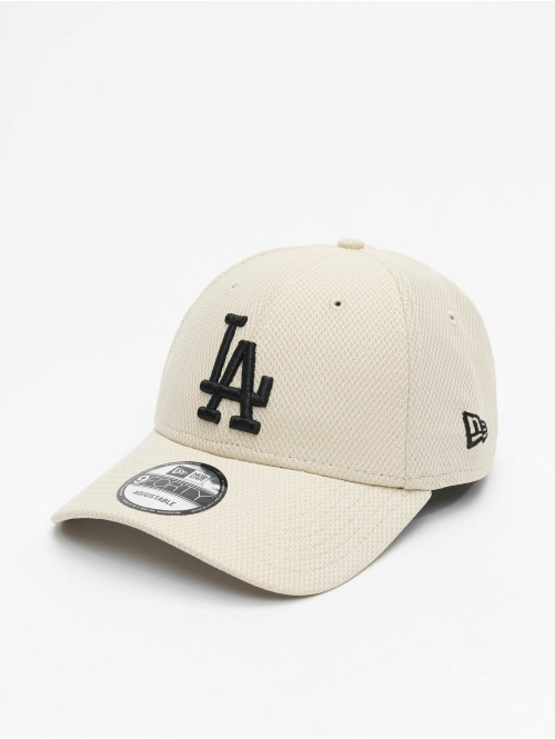 New Era Snapback Cap MLB LA Dodgers Diamond Era 9Forty beige