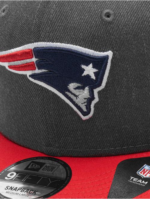 New Era Snapback Cap NFL Heather New England Patriots 9Fifty grau