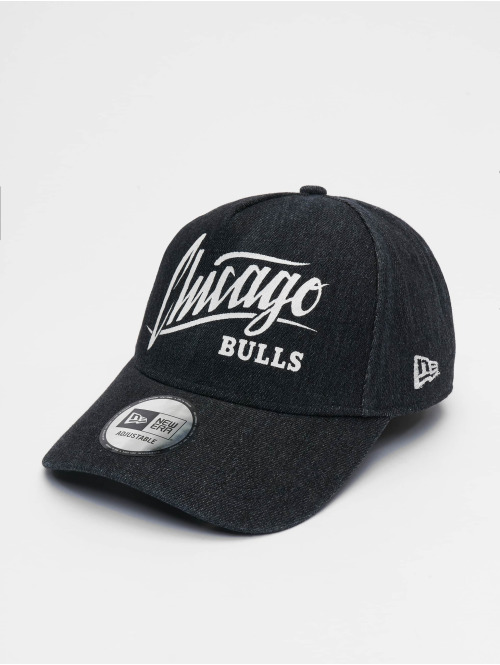 New Era Snapback Cap NBA Chicago Bulls Denim A-Frame Adjustable schwarz