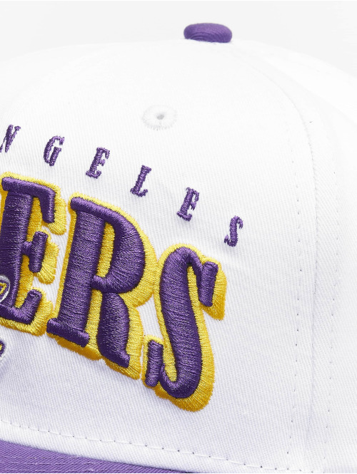 New Era Snapback Cap NBA LA Lakers Retro Pack Flat Visor 9Fifty weiß