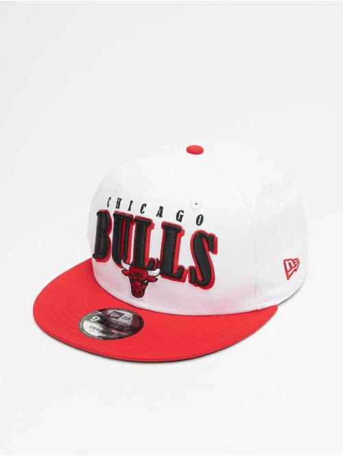 New Era Snapback Cap NBA Chicago Bulls Retro Pack Flat Visor 9Fifty weiß