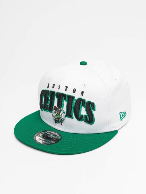 New Era Snapback Cap NBA Boston Celtics Retro Pack Flat Visor 9Fifty weiß