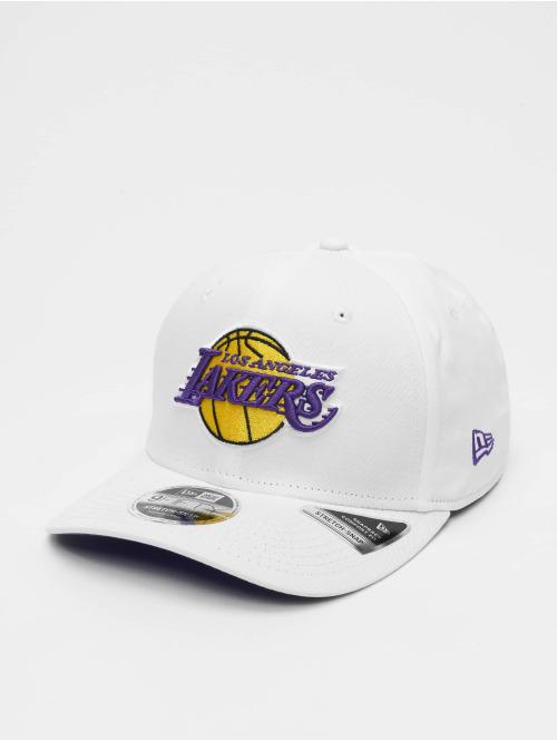 New Era Snapback Cap NBA LA Lakers Stretch Snap 9fifty weiß