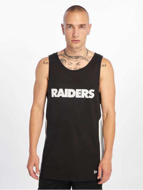 New Era Tank Tops NFL Oakland Raiders Mesh Print schwarz