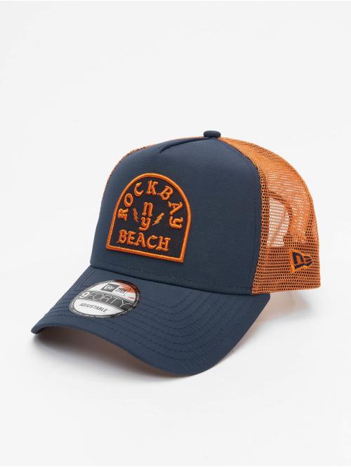 New Era Trucker Cap Rockbay Beach blau