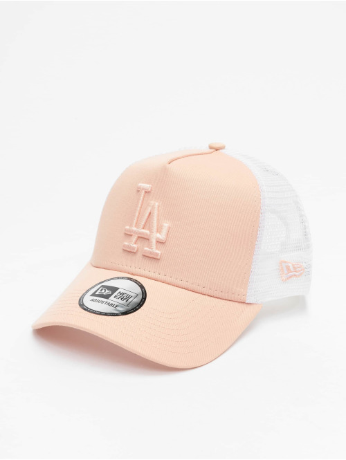 New Era Trucker Cap MLB LA Dodgers League Essential A-Frame rosa