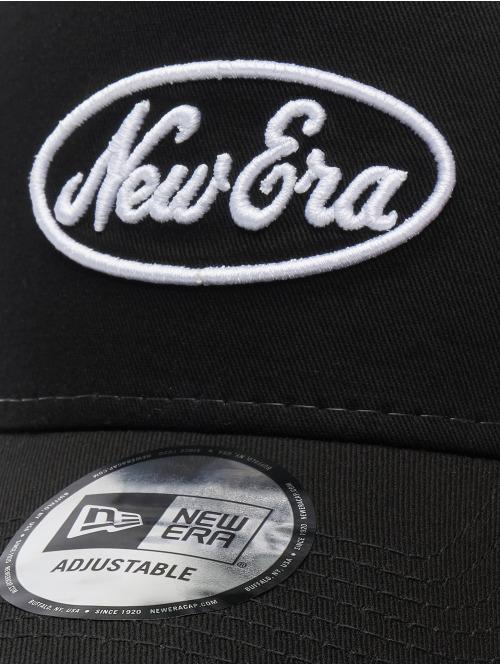 New Era Trucker Cap Oval Script 9forty A-Frame schwarz