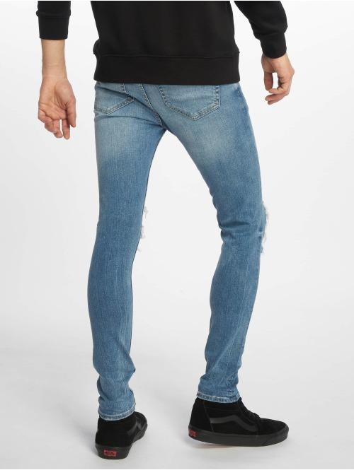 New Look Skinny Jeans Jack Busted Knee blau