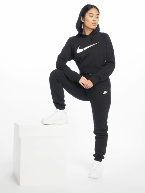 Nike Hoody Swoosh Cropped schwarz
