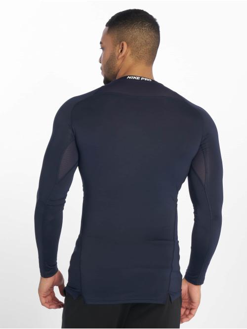 Nike Performance Sportshirts Pro Fitted blau