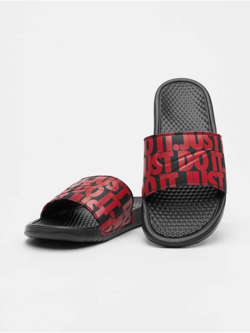 Nike Sandalen Benassi JDI Print schwarz