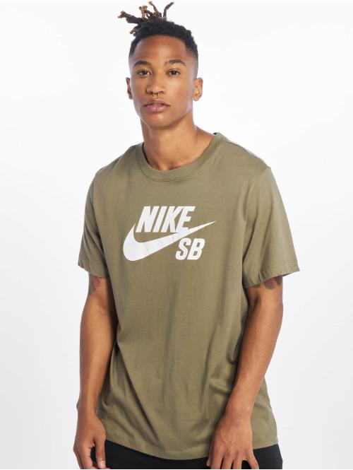 Nike SB T-Shirt Dri Fit Logo olive