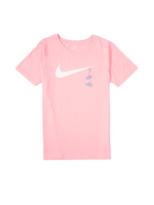 Nike T-Shirt Tee Swoosh Shoes rosa