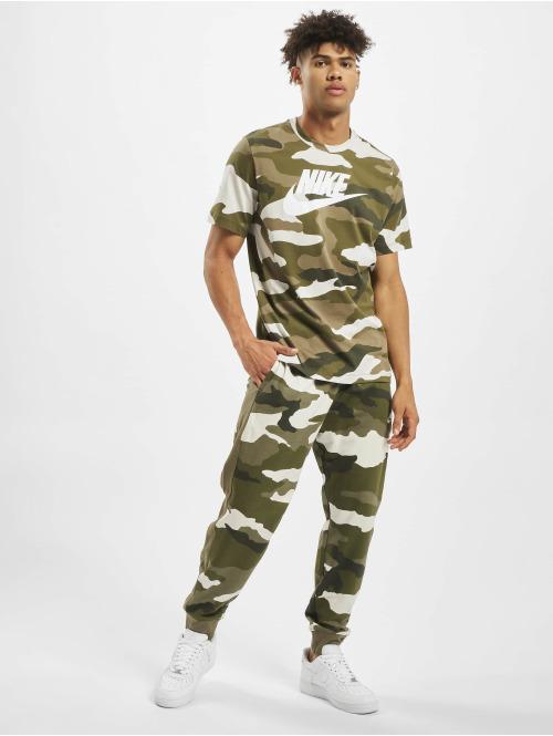 Nike T-Shirt Camo 1 weiß