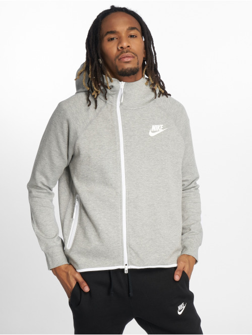 Nike Zip Hoodie Tech Fleece grau