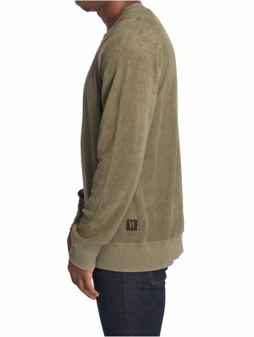 Nudie Jeans Pullover Samuel Terry grün