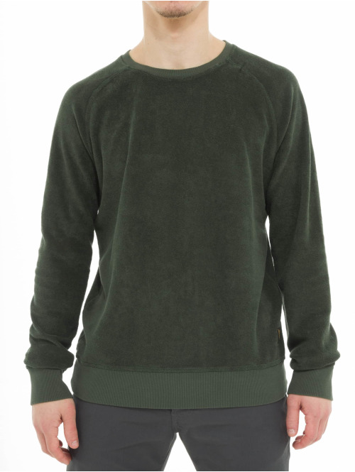 Nudie Jeans Pullover Samuel Terry olive