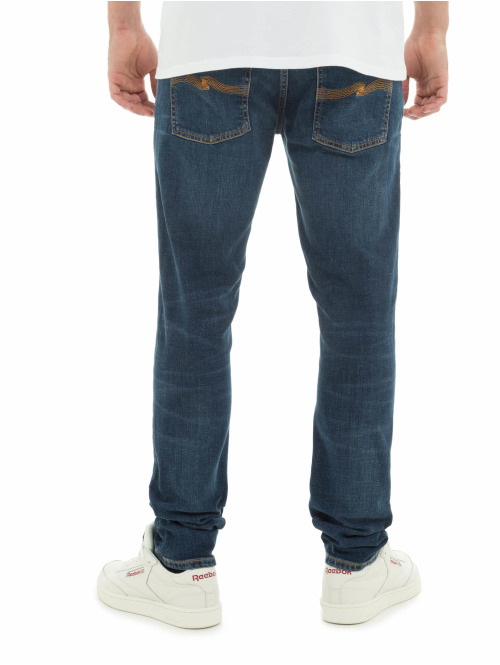 Nudie Jeans Slim Fit Jeans Tight Terry blau