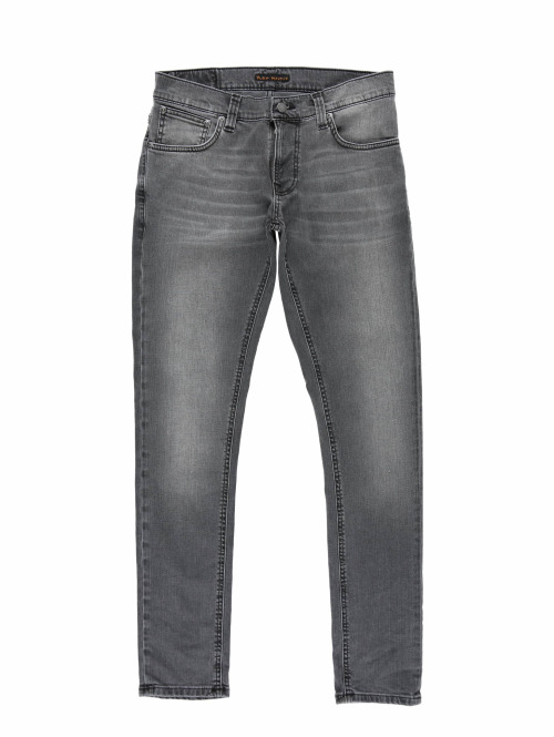Nudie Jeans Slim Fit Jeans Tight Terry grau