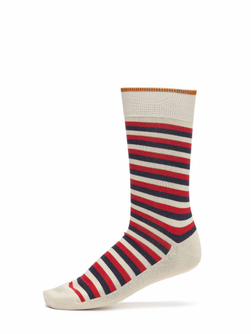 Nudie Jeans Socken Olsson French Stripe beige