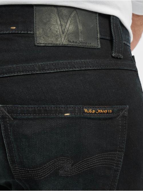 Nudie Jeans Straight Fit Jeans Grim Tim blau