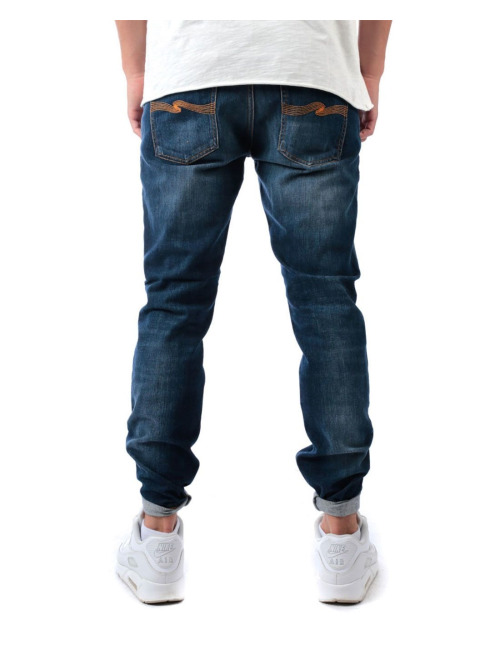 Nudie Jeans Straight Fit Jeans Lean Dean blau