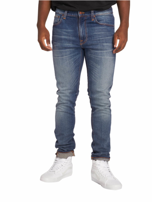 Nudie Jeans Straight Fit Jeans Lean Dean blau