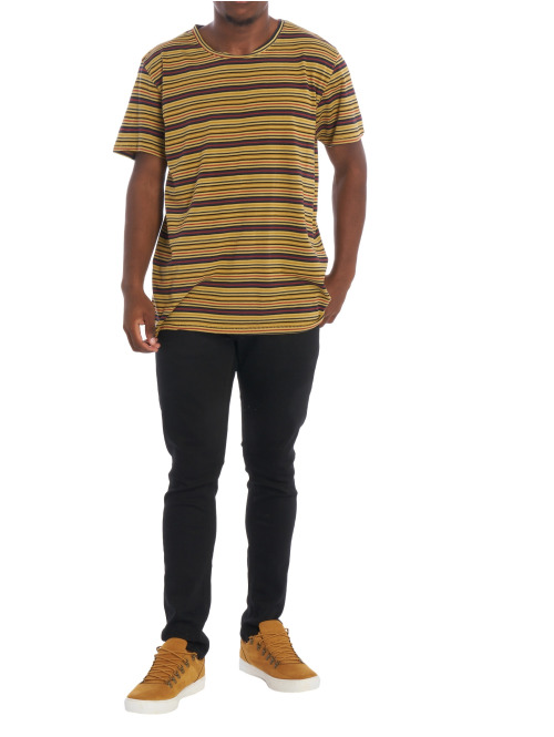 Nudie Jeans T-Shirt Anders Overdyed Stripes braun