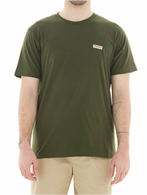 Nudie Jeans T-Shirt Daniel Logo olive