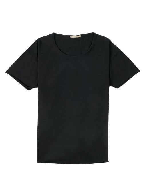 Nudie Jeans T-Shirt Slub schwarz