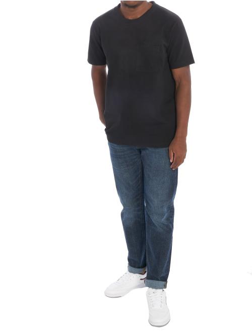 Nudie Jeans T-Shirt Basic schwarz