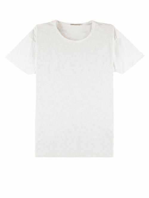 Nudie Jeans T-Shirt Roger Slub weiß