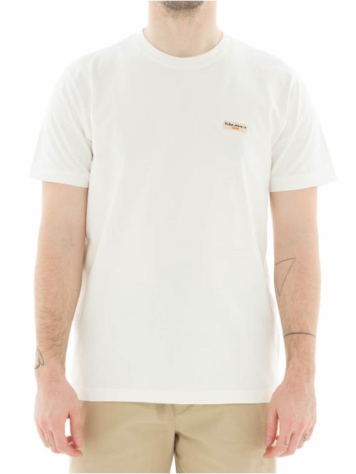 Nudie Jeans T-Shirt Daniel weiß
