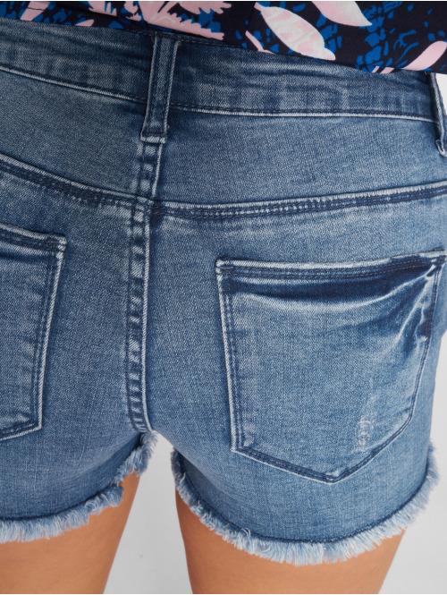 Only Shorts onlPearl Raw Mid blau